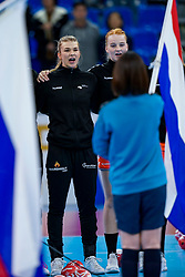 13-12-2019 JAP: Semi Final Netherlands - Russia, Kumamoto<br /> The Netherlands beat Russia in the semifinals 33-22 and qualify for the final on Sunday in Park Dome at 24th IHF Women's Handball World Championship / Tess Wester #33 of Netherlands, Dione Housheer #27 of Netherlands