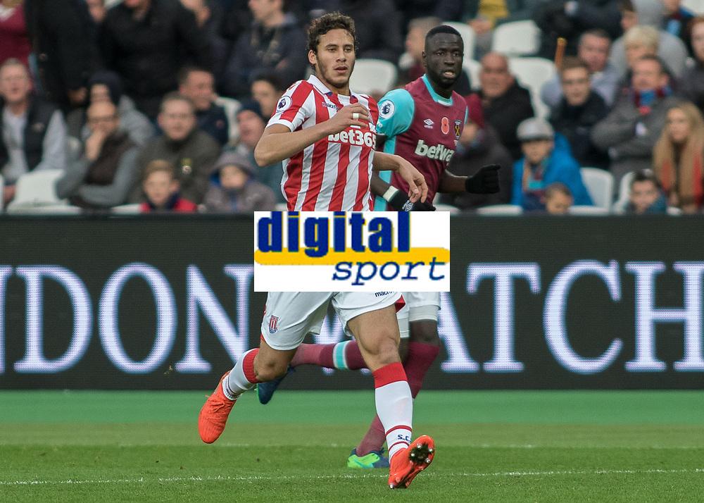 Football - 2016 / 2017 Premier League - West Ham United vs. Stoke City<br /> <br /> Egyptian winger Ramadan Sobhi of Stoke City at The London Stadium.<br /> <br /> COLORSPORT/DANIEL BEARHAM