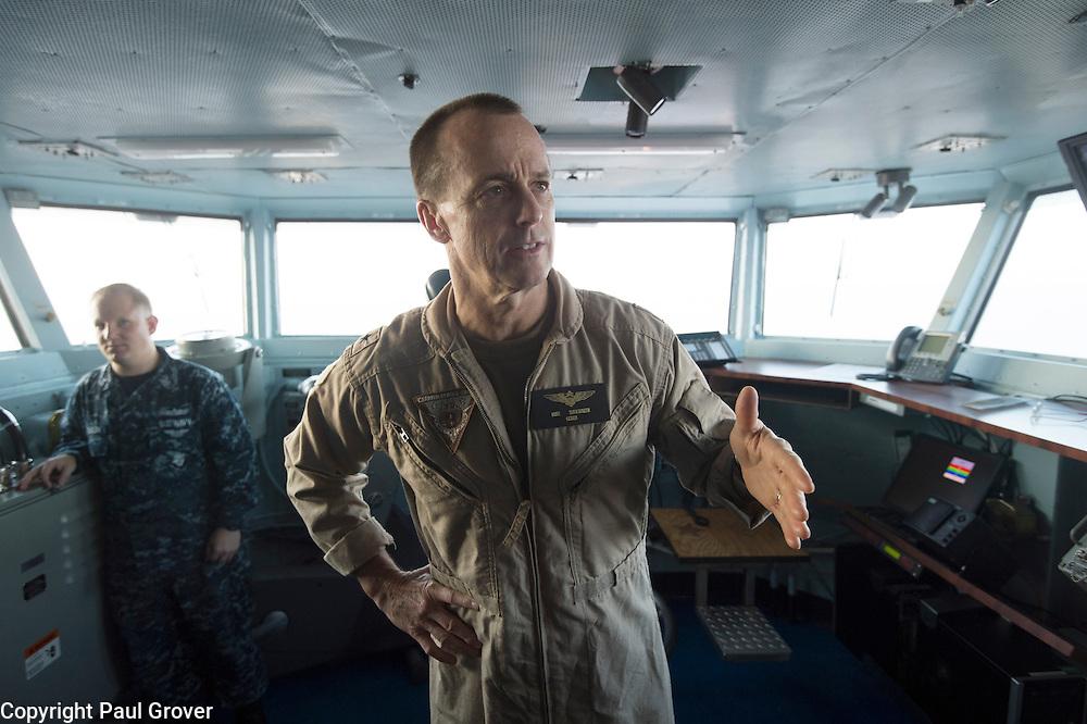 USS John C Stennis CVN-74 Aircraft Carrier.Pic Shows Rear Admiral Troy Shoemaker
