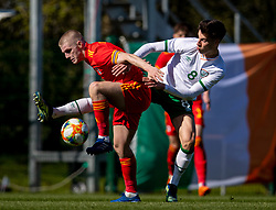 WREXHAM, WALES - Friday, March 26, 2021: Wales' Ryan Stirk (L) and Republic of Ireland's Conor Noss during an Under-21 international friendly match between Wales and Republic of Ireland at Colliers Park. Republic of Ireland won 2-1. (Pic by David Rawcliffe/Propaganda)