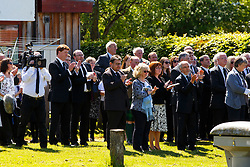 © Licensed to London News Pictures. 12/06/2015. Fort William, UK. Colleagues, friends and family attend the funeral of ex-Liberal Democrat leader Charles Kennedy takes place at St John's Church in Caol, near his Fort William home in Scotland on Friday, June 12, 2015. Mr Kennedy died suddenly on June 1, 2015 at the age of 55 after suffering a major haemorrhage as a result of a long battle with alcoholism. Photo credit: Tolga Akmen/LNP