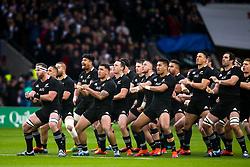 New Zealand All Blacks perform The Haka ahead of facing England - Mandatory by-line: Robbie Stephenson/JMP - 10/11/2018 - RUGBY - Twickenham Stadium - London, England - England v New Zealand - Quilter Internationals