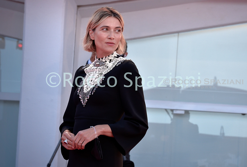 """VENICE, ITALY - SEPTEMBER 08:Anna Foglietta   walks the red carpet ahead of the movie """"Notturno"""" at the 77th Venice Film Festival on September 08, 2020 in Venice, Italy.  <br /> (Photo by Rocco Spaziani)"""