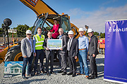 NO FEE PICTURES<br />13/7/18 Irish Life has formally broken ground on its new Customer Centre in Dundalk, Co Louth. The building has been designed by leading Dublin based architects, wejchert Architects and is being delivered by main contractor Stewart Construction. The new site area is 1.6 hectares with an office size of 45,000 sq ft. It is expected that over 200 construction workers will be on site during the construction phase of the project, which will be a significant boost to local employment in the Dundalk Area. Pictured are : Fergus Dowd, Irish Life, Paul Stewart, MD Stewart Construction, Aine Cassidy, Excutive Manager, Dundalk Office, David Harney, CEO Irish Life, Denis McLoughlin, Irish Life, Sean Rooney, developer, Greg Ward, Irish Life and Se Weston, Excutive Manager, Dundalk Office. Picture :Arthur Carron
