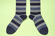 still life of a pair of striped socks