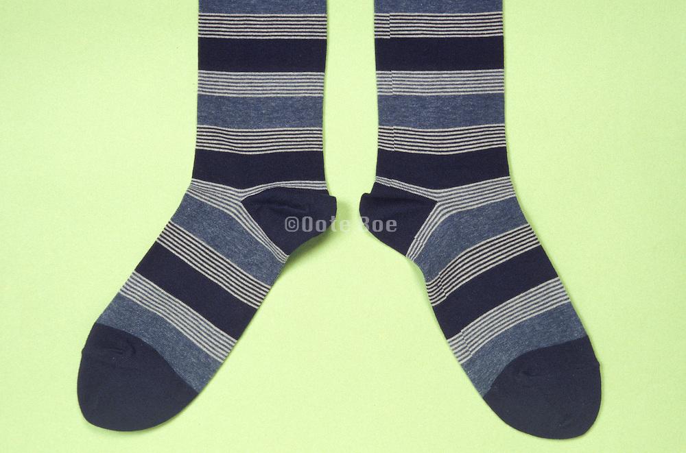 still life of a pair of striped socks