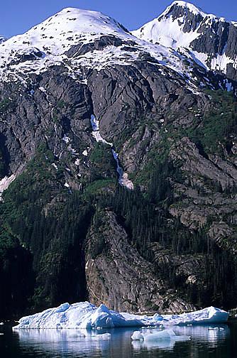 Alaska, mountain range in Tracy arm, Alaska.