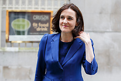 © Licensed to London News Pictures. 26/06/2016. London, UK. Northern Ireland Secretary THERESA VILLIERS  leaving Millbank studious in London after TV interviews on 26 June 2016. Photo credit: Tolga Akmen/LNP