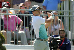 March 23, 2019 - Palm Harbor, FL, U.S. - PALM HARBOR, FL - MARCH 23: Austin Cook tees off during the third round of the Valspar Championship on March 23, 2019, at Westin Innisbrook-Copperhead Course in Palm Harbor, FL. (Photo by Cliff Welch/Icon Sportswire) (Credit Image: © Cliff Welch/Icon SMI via ZUMA Press)