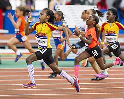 Millrose Games: girls Fastest Kid on the Block, Reaves