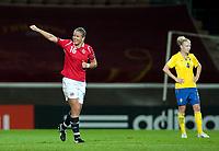 Fotball<br /> Semifinale EM kvinner 2009<br /> 04.09.2009<br /> Sverige v Norge<br /> Foto: Jussi Eskola/Digitalsport<br /> NORWAY ONLY<br /> <br /> Norge jubler for scoring<br /> Elise Thorsnes