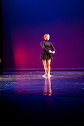 Students of Dance Wisconsin are seen at their dress rehearsal of New Works at Mitby Theater at Madison College in Madison, Wisconsin on October 6, 2011.