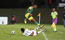 Durban, SOUTH AFRICA - SEPTEMBER 19: Sibusiso Vilakazi protecting a ball during the Absa Premiership match between Golden Arrows and Mamelodi Sundowns at Princess Magogo Stadium on September 19, 2018 in Durban, South Africa. (Photo by Motshwari Mofokeng/ANA)