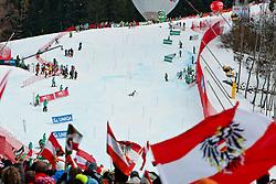 16.02.2013, Planai, Schladming, AUT, FIS Weltmeisterschaften Ski Alpin, Slalom, Damen, 2. Durchgang, im Bild Jubelstimmung // austrian Fans during 2nd run of the Womens Slalom at the FIS Ski World Championships 2013 at the Planai Course, Schladming, Austria on 2013/02/16. EXPA Pictures © 2013, PhotoCredit: EXPA/ Markus Casna