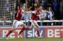 Bristol City's Sam Baldock scores the second goal - Photo mandatory by-line: Joe Dent/JMP - Mobile: 07966 386802 11/03/2014 - SPORT - FOOTBALL - Peterborough - London Road Stadium - Peterborough United v Bristol City - Sky Bet League One