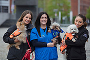 NO FEE PICTURES                                                                                                                                            9/5/19 Natasha Eames, Fundraising and events co-ordinator DSPCA, Lesley Barber, Village Vets and Jodie Pezzilli, DSPCA at the launch of Ireland's favourite animal friendly event, Pets in the City, which will take place in Dublin's Smithfield Square on Sunday May 19th from 1130am to 430pm. Picture: Arthur Carron