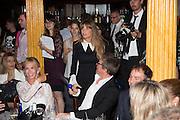 TRUDIE STYLER; JEMIMA KHAN; HUGH GRANT , The Hoping Foundation  'Rock On' benefit evening for Palestinian refugee children.  Cafe de Paris, Leicester Sq. London. 20 June 2013