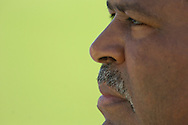 Copyright David Richard<br />Cleveland Browns head coach Romeo Crennel during the first day of training camp in Berea, Ohio.