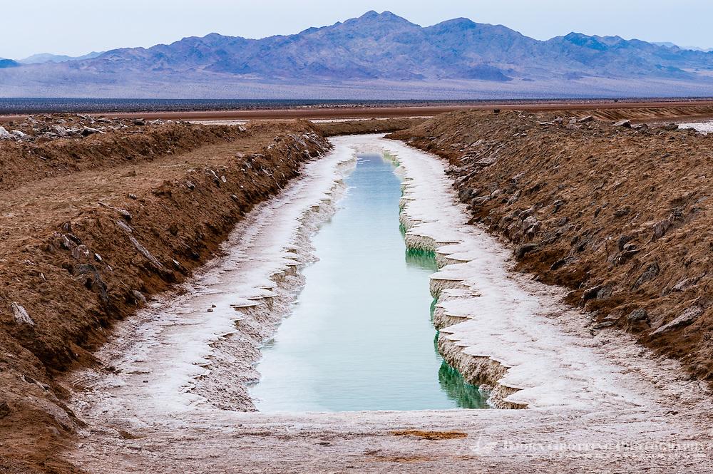 United States, California, Salt extraction near Twentynine Palms.