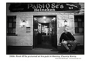 Paidi OSe outside his pub in Ventry..Picture by Don MacMonagle