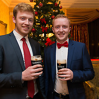 Brothers Sean and Padraig McMahon from Miltown Malbay at the Clare Limousin Breeders 18th Annual Dinner Dance at the Bellbridge House Hotel, Spanish Point
