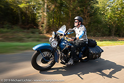 Gary Shorman riding his 1940 Harley-Davidson WL750cc Flathead in the Cross Country Chase motorcycle endurance run from Sault Sainte Marie, MI to Key West, FL. (for vintage bikes from 1930-1948). Stage-7 covered 249 miles from Macon, GA to Tallahassee, FL USA. Thursday, September 12, 2019. Photography ©2019 Michael Lichter.