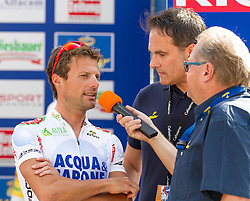 01.07.2012, Innsbruck, AUT, 64. Oesterreich Rundfahrt, 1. Etappe, EZF Innsbruck, im Bild Danilo Di Luca (ITA) und Harry Mayer. during the 64rd Tour of Austria, Stage 1, Individual time trial in Innsbruck, Austria on 2012/07/01