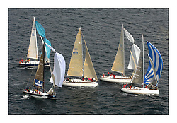Sailing - The 2007 Bell Lawrie Scottish Series hosted by the Clyde Cruising Club, Tarbert, Loch Fyne..Brilliant first days conditions for racing across the three fleets...IRC Class 1 upwind, GBR8899 Team Kingspan, 6451C Supertramp, 603R Playing Ftse, GBR4770R Moorish Idol..