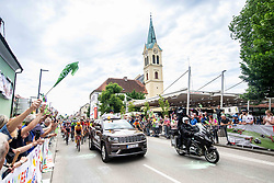 Peloton with fans during 2nd Stage of 27th Tour of Slovenia 2021 cycling race between Zalec and Celje (147 km), on June 10, 2021 in Zalec - Celje, Zalec - Celje, Slovenia. Photo by Vid Ponikvar / Sportida