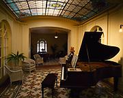 Music Room in the Fordyce Bathhouse, Hot Springs National Park, Arkansas.