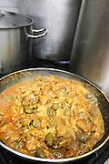 Meorav Yerushalmi (lit. Jerusalem Mix) Chicken meat and internal organs simmering