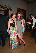 LAURA MACGREEVY; ANTONIA CLARKE,  VIP room during the RA summer exhibition party. Royal Academy, Piccadilly. London. 5 June 2013.