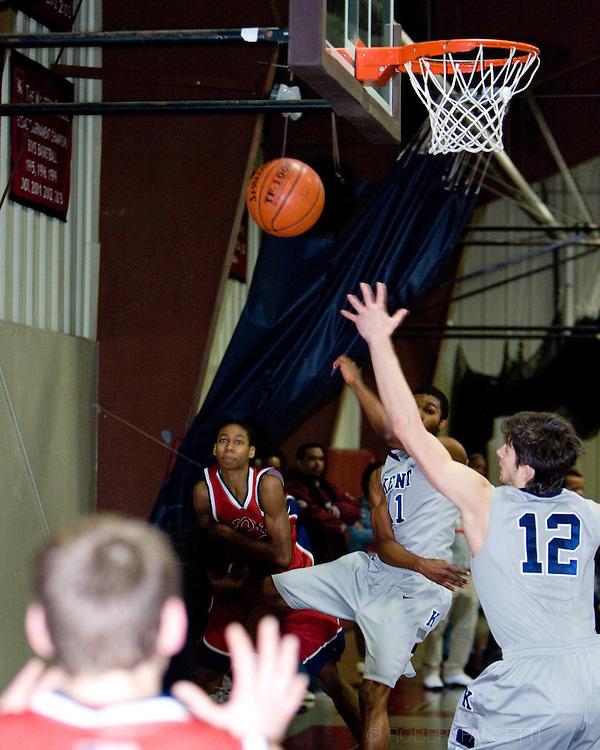 The Master's School, West Simsbury, CT. 2011-2012. Boys Varsity Basketball.  (Photo by Robert Falcetti). .