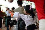 Pupils at traditional Balinese dance school. Sanur, Bali, Indonesia