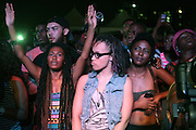 August 25, 2012-Brooklyn, NY: Recording Artist Erykah Badu performs at the Afropunk Festival held at Commodore Barry Park on August 25, 2012 in Brooklyn, NY. The Afro-punk Festival has become a Brooklyn intuition, the focal point for the burgeoning Afro-punk movement. Over the past seven years, the festival has presented new artists before they hit it big, such as Grammy-nominated Santigold, The Noisettes and Janelle Monae. Afro-punk mainstays like Saul Williams, The Dirtbombs, and Dallas Austin have also graced Afro-punk's stages. (Terrence Jennings/TerrenceJennings.com)