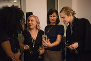 "IRIS GOLD; EMILY BRADBURY; RACHEL HOWARD; POLLY MORGAN, The launch of Rachel Howard's ""Humble Hanger"" -  a limited edition jewellery collaboration with True Rocks.. BlainSouthern, Hanover Sq. London. 18 November 2015"