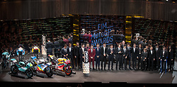 November 12, 2017 - Valencia, Valencia, Spain - All winners during the FIM Awards Ceremony after the Gran Premio Motul de la Comunitat Valenciana, in Palacio de Congresos of Valencia, Spain. Sunday 12th of november 2017. (Credit Image: © Jose Breton/NurPhoto via ZUMA Press)