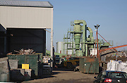 Sackers waste recycling centre machinery for metal processing, Claydon, Suffolk, England
