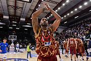 DESCRIZIONE : Campionato 2015/16 Serie A Beko Dinamo Banco di Sardegna Sassari - Umana Reyer Venezia<br /> GIOCATORE : Phil Goss<br /> CATEGORIA : Ritratto Esultanza Postgame<br /> SQUADRA : Umana Reyer Venezia<br /> EVENTO : LegaBasket Serie A Beko 2015/2016<br /> GARA : Dinamo Banco di Sardegna Sassari - Umana Reyer Venezia<br /> DATA : 01/11/2015<br /> SPORT : Pallacanestro <br /> AUTORE : Agenzia Ciamillo-Castoria/L.Canu