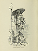 Pilgrim going up Fujiyama from the book ' Rambles in Japan : the land of the rising sun ' by Tristram, H. B. (Henry Baker), 1822-1906. Publication date 1895. Publisher New York : Revell