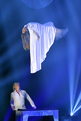 May 25, 2018 - DüSseldorf, Germany - TV personality Heidi Klum and magician Hans Klok on the final of Germany's Next Top Model at the ISS Dome on May 24 2018 in Düsseldorf, Germany..IBy Line: Famous/ACE Pictures...ACE Pictures Inc. (Credit Image: © Famous/Ace Pictures via ZUMA Press)