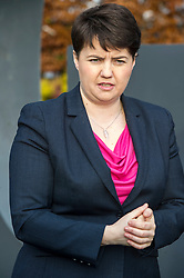 Pictured: Ruth Davidson<br /> <br /> Scottish Conservatives leader Ruth Davidson and shadow finance secretary Murdo Fraser, MSP, headed to Edinburgh Airport to meet Ahmet Serhat Sari, Turkish Airlines General manager for Scotland, 4 years after the airline opened up the route from the capital to Ankera. Ms Davison was keen to discuss the expansion of the Scottish economy.<br /> <br /> Ger Harley | EEm 9 December 2016