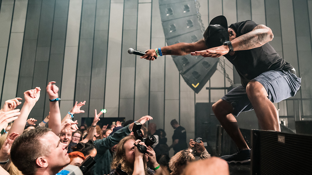 British hip-hop artist Dizzee Rascal at Iceland Airwaves