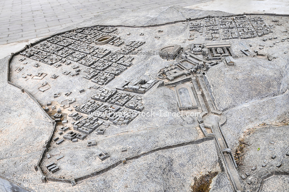Model of Scythopolis at the Bet Shean National Park, Israel