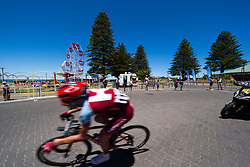 January 18, 2018 - Victor Harbor, South Australia, Australia - Tiago Machado of Team Katusha Alpencin start the final loop and in the lead just behind the peloton Stage 3, Glenelg to Victor Harbor, of the Tour Down Under, Australia on the 18 of January 2018  (Credit Image: © Gary Francis via ZUMA Wire)
