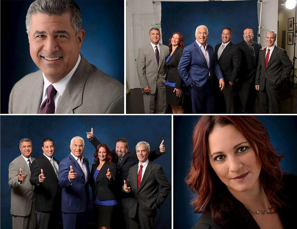 Tony Barletta Agency, Stuart FL. Headshots and small group photos shot for the firms promotional activity.