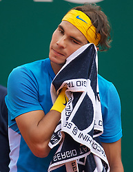 MONTE-CARLO, MONACO - Saturday, April 17, 2010: Rafael Nadal (ESP) during the Men's Singles Semi-Final on day six of the ATP Masters Series Monte-Carlo at the Monte-Carlo Country Club. (Photo by David Rawcliffe/Propaganda)