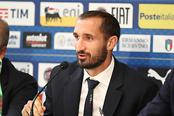 October 5, 2017 - Turin, Piedmont, Italy - Giorgio Chiellini (Italy) during the press conference on the eve of the FIFA World Cup European Qualifying match between Italy and FYR Macedonia at Olympic Grande Torino Stadium on 5 October, 2017 in Turin, Italy. (Credit Image: © Massimiliano Ferraro/NurPhoto via ZUMA Press)