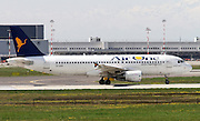 """Air One S.P.A., (Air One """"Smart Carrier""""), Airbus A320-216. Photographed at Linate airport, Milan, Italy"""