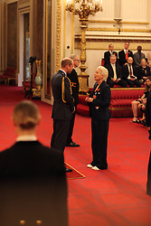 Dame Emma Thompson from London is made a Dame Commander of the British Empire by the Duke of Cambridge at Buckingham Palace. This picture is not for use after 07 January 2019, without Buckingham Palace approval. PRESS ASSOCIATION Photo. Picture date: Wednesday November 7, 2018. See PA story ROYAL Investiture. Photo credit should read: Jonathan Brady/PA Wire